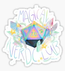 Magical nerd club Sticker