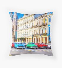 Wacky Races Havana Cuba  Throw Pillow