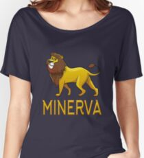 Minerva Lion Drawstring Bags Women's Relaxed Fit T-Shirt
