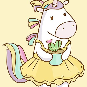 Unicorn with sweet cactus by olarty