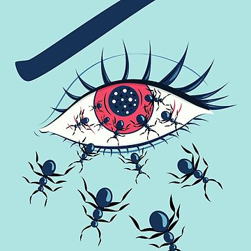 Creepy Red Eye With Crawling Ants by azzza