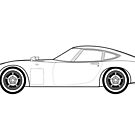 Toyota 2000GT Outline Drawing by RJWautographics