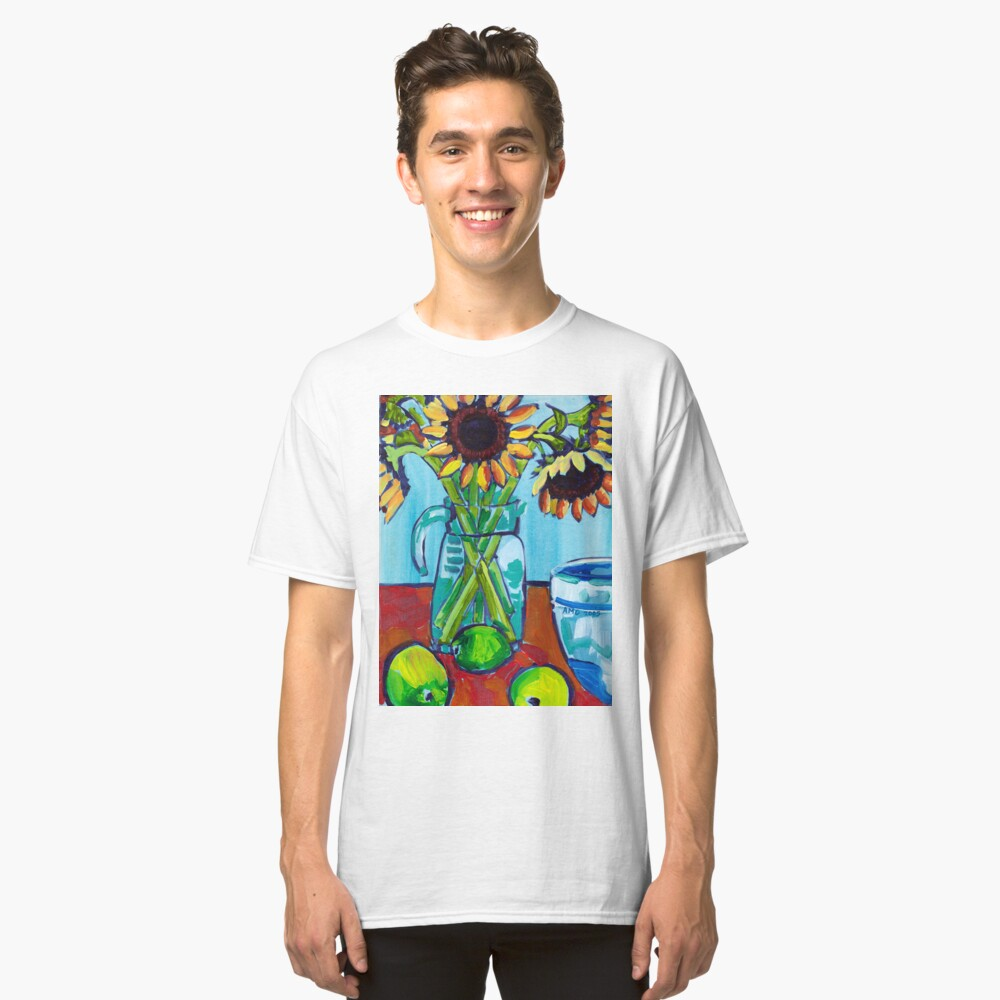 Sunflowers and Limes Classic T-Shirt