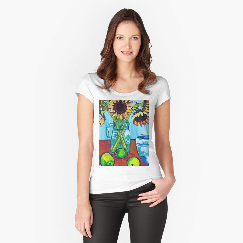 Sunflowers and Limes Fitted Scoop T-Shirt