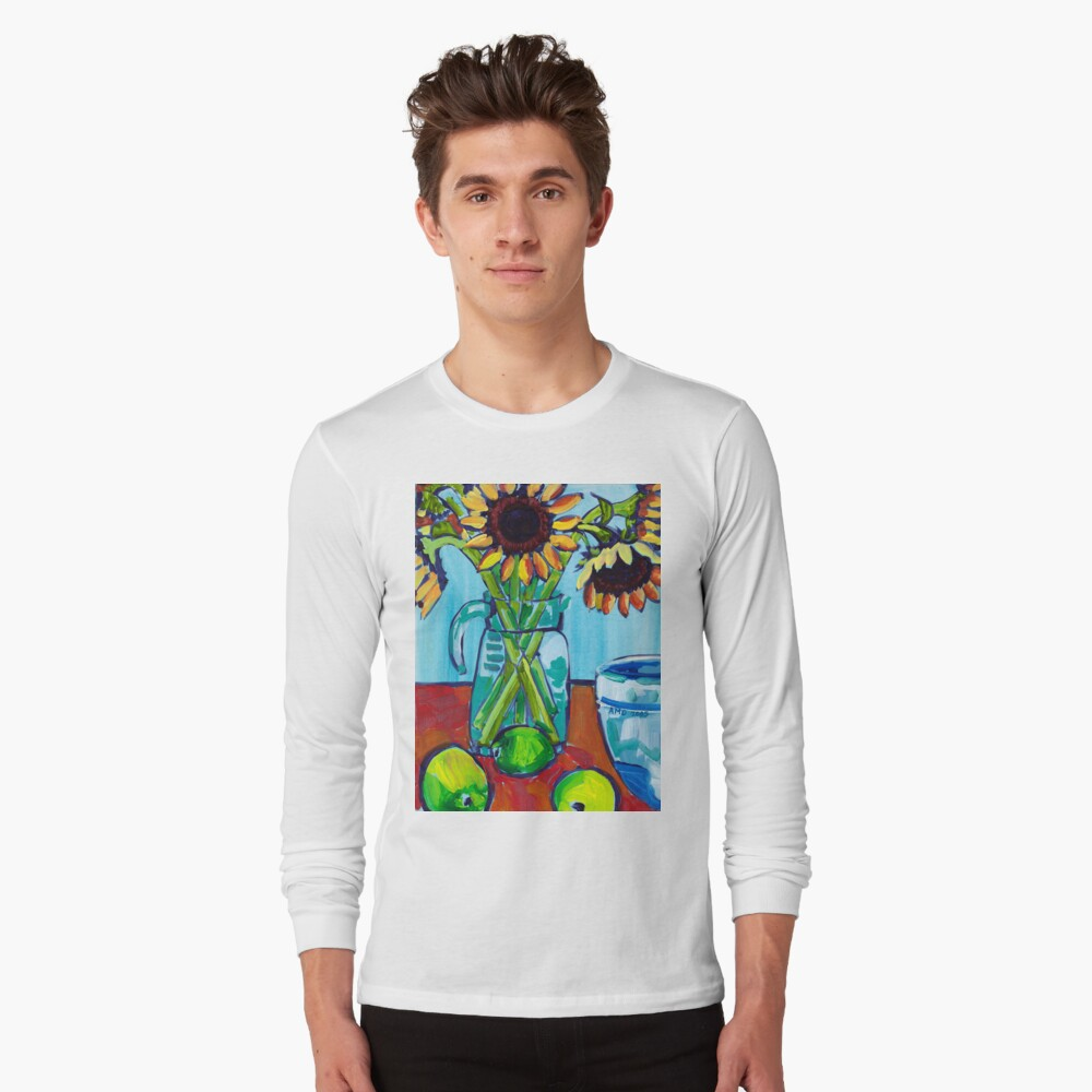 Sunflowers and Limes Long Sleeve T-Shirt