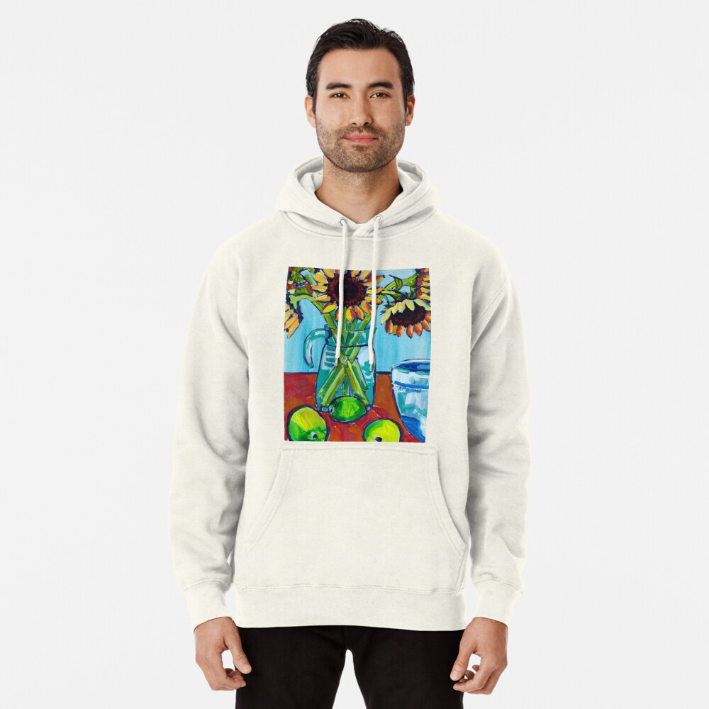 Sunflowers and Limes Pullover Hoodie