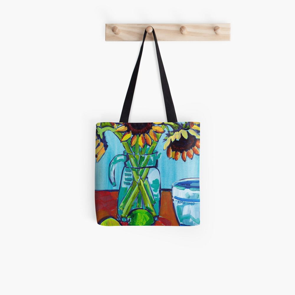 Sunflowers and Limes Tote Bag