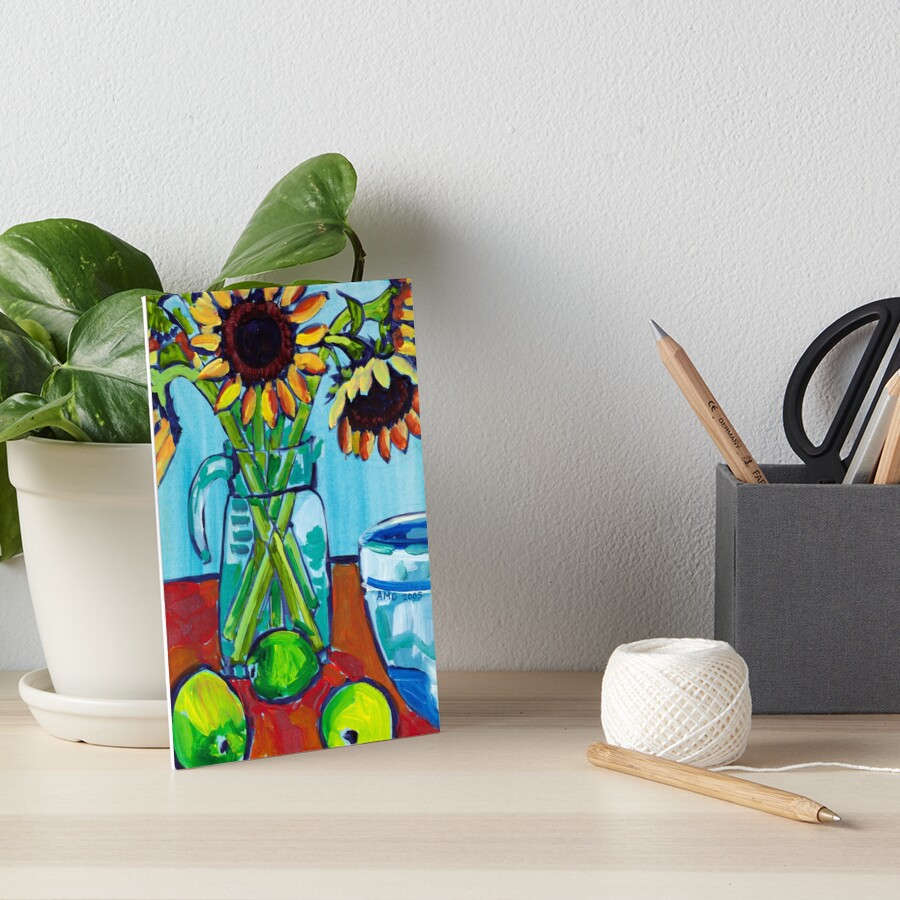 Sunflowers and Limes Art Board Print