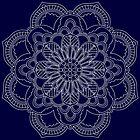 Mandala - Weiß auf buntem Hintergrund von bunbun369