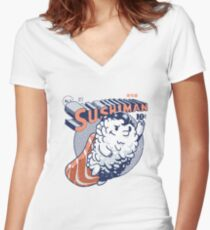 Sushiman - Sushi Lover Women's Fitted V-Neck T-Shirt