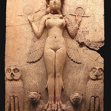 BABYLON, Queen of the Night, Goddess Ishtar, Babylonian Goddess of sex and love.  Burney relief by TOMSREDBUBBLE