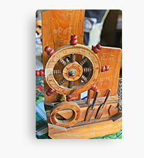 Brown Close Up Boat Sea Ship Ocean Marine Travel Sail Transport Cruise #3 Canvas Print