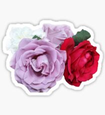 Bouquet of Garden Roses - Hipster/Pretty/Trendy Flowers Sticker