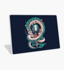 The girl and the dragon Laptop Skin