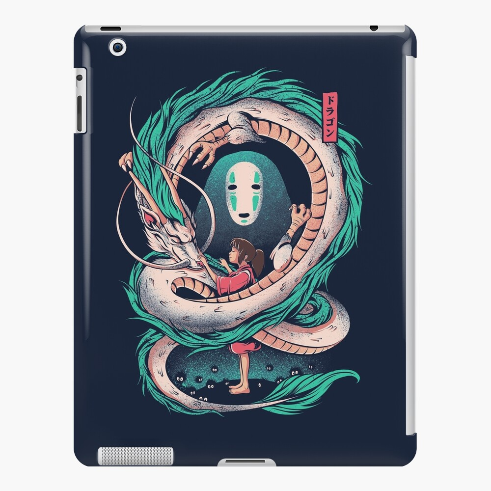 The girl and the dragon iPad Case & Skin