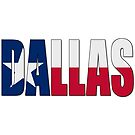 Dallas TX Text with Lone Star Flag Underlay by VisualIdeas