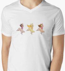 Smiley Ballerinas Men's V-Neck T-Shirt