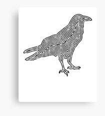 Crow TShirt Minimalist Outline Silhouette   Canvas Print