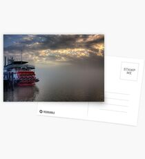 Paddlewheel in Fog Postcards