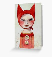 Little Red Riding Hood I watercolor Greeting Card