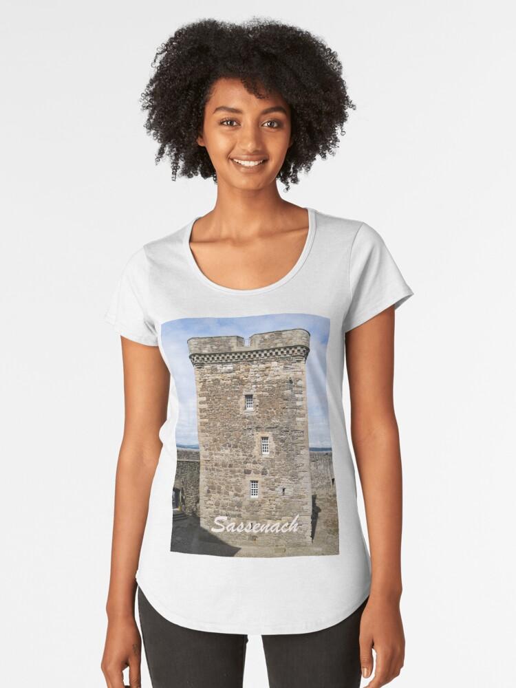 Sassenach !  Blackness Castle Fort William in Outlander Women's Premium T-Shirt Front