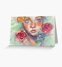 Adrift - Watercolor Illustration  Greeting Card