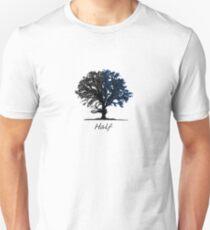 Half blue and black tree design Unisex T-Shirt