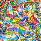 Mermaid Towne by DiNOandDARTart