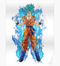 Póster Goku Super saiyan god