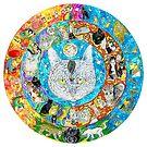 the CAT mandala by DiNOandDARTart