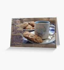 Grandma's Coffee Cookies (recipe) w/ white border Greeting Card