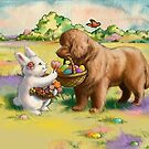 Easter Brown Newfie by Patricia Reeder Eubank