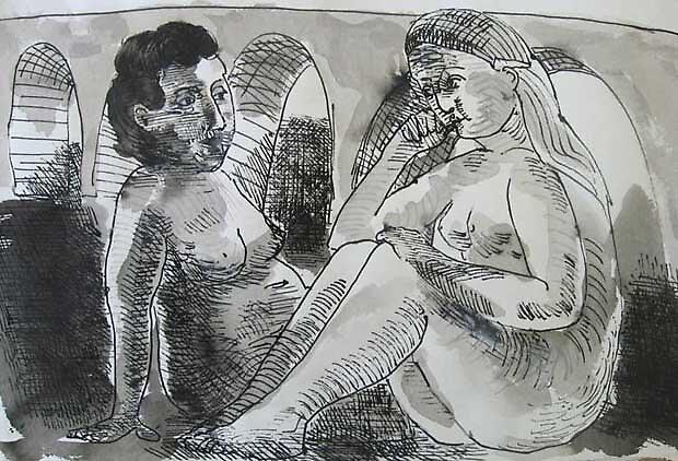 2 women talking by lawrence mcdonell