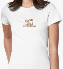 Myrtle Beach -  South Carolina.  Womens Fitted T-Shirt