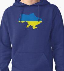 Ukraine map flag Pullover Hoodie
