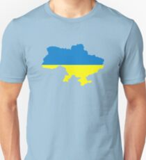 Ukraine map flag Unisex T-Shirt