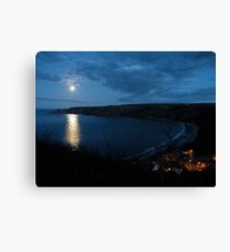 Dropped in To Runswick Bay    5 Canvas Print