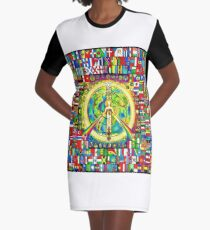 A Peace of eARTh Graphic T-Shirt Dress