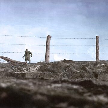 82nd running to a trench, Belgium, 1944. by cassowaryprods