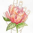 Peony - Gold (Gilded Hands Series) by Catherine Herold