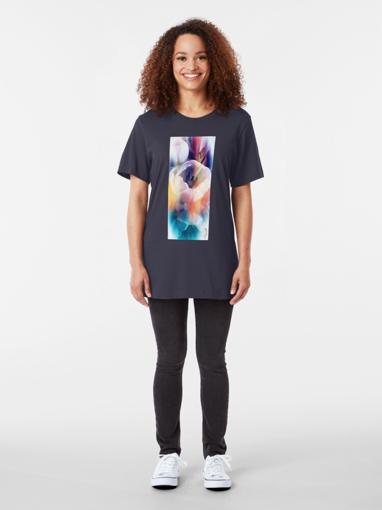Alternate view of Tulips,Yes! Snow, No! Slim Fit T-Shirt