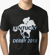 Derby 2018 shirt for horse racing Tri-blend T-Shirt