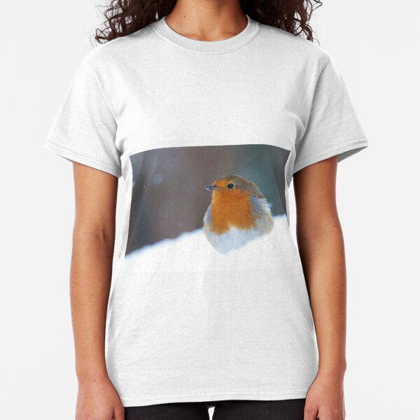 Robin Redbreast (Erithacus rubecula) Classic T-Shirt