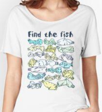 Finde den Fisch und rette den Ozean vor Plastikverschmutzung Loose Fit T-Shirt