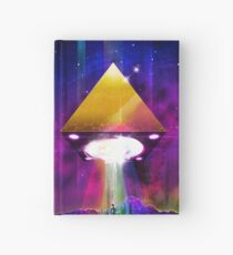 Abduction (Tetra) - Retrowave Synth UFO Illuminati  Hardcover Journal