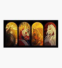 Lámina fotográfica Los cuatro caballos del Apocalipsis