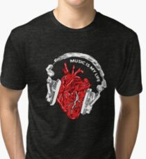 "Musically t-shirt love music shirt ""Music is in every heart"" Tri-blend T-Shirt"