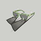 Ändere deinen Blickwinkel - Sonnenbrille von Barbara Baumann Illustration