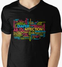 AB/DL words cloud Men's V-Neck T-Shirt