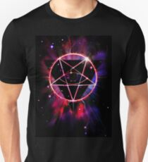 Space Demon 2049 - Evil Synthwave Sigil Slim Fit T-Shirt